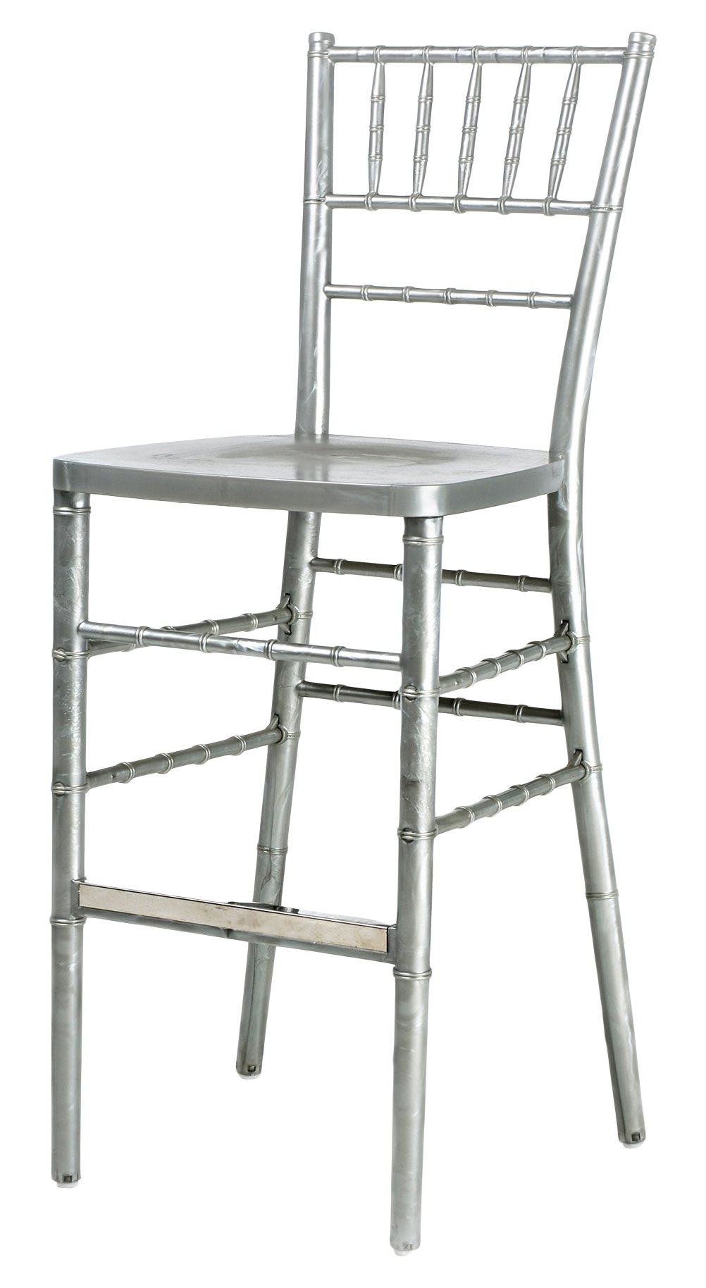 CSP Events RB-800K-SL ''Max'' Chiavari Chair Steel Core with ED Resin, 36'' Height, 16'' Width, 16'' Length, Silver