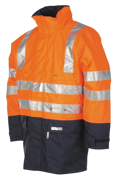 Yellow HV Yellow SIOEN 3720A2F01FY13XL Unzen Hi-Vis Rain Jacket 3X-Large