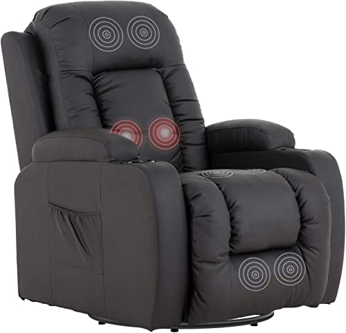 Mecor Massage Recliner Chair PU Leather Rocker