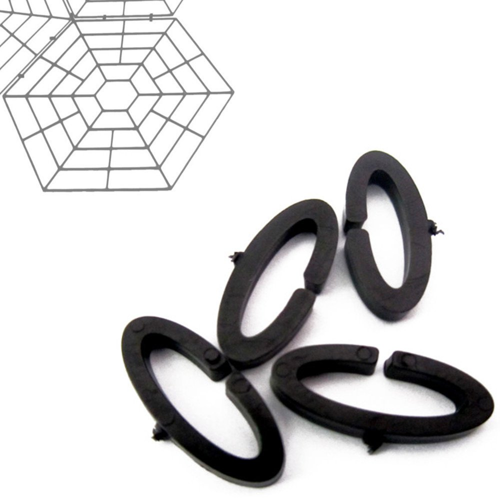 MPC ERADICATE 60 Pack of Spare Plastic clips for Floating Pond Guard Rings clip set