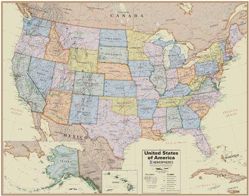 Amazon Hemisphere Boardroom World And Usa Wall Map Set Toys