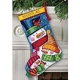 Freezin Season Stocking Needlepoint Kit-16 Long Stitched In Wool & Thread