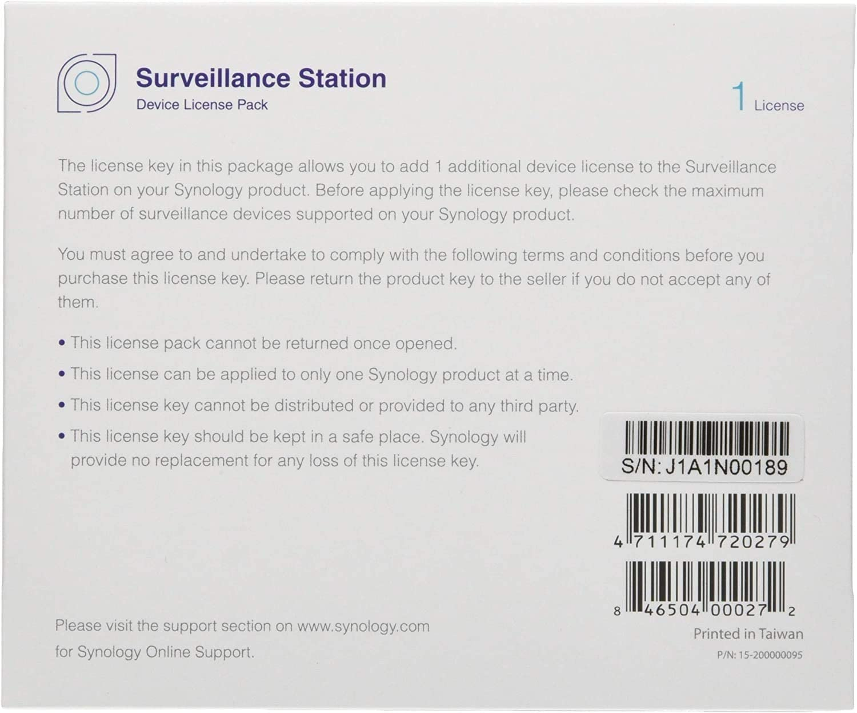 Synology 1 Camera License Pack For Elektronik