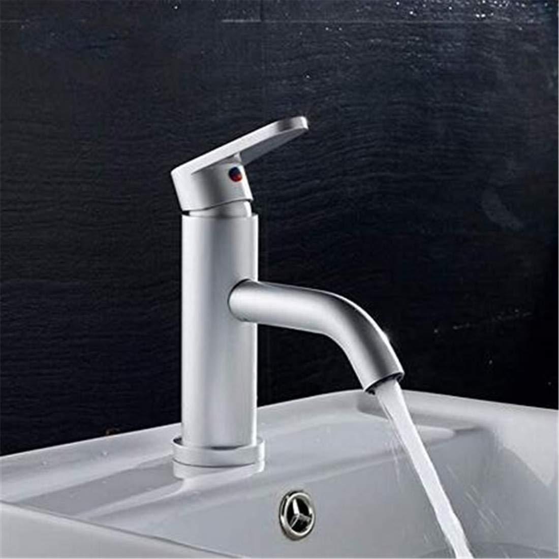 Verchromtem Messing Warmes und kaltes Wasser Waschbecken Wasserhahn Einhand Einlochmontage Becken Wasserhahn Becken Bad Waschbecken Wasserhahn