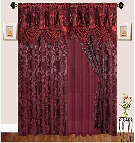 Reviewed: Sapphire Home Traditional Curtain Drape Set 2 Panels 84 Inch Long