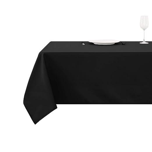 Deconovo Mantel Cuadrado para Mesa 130 x 130 cm Negro: Amazon.es ...