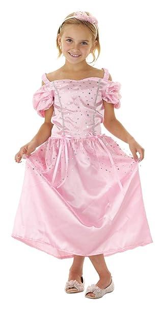 Folat 21822 - 2 teiliges Märchen Prinzessin Kleid rosa mit Haarreif ...