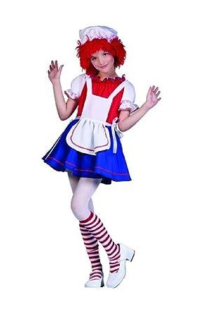 OvedcRay Raggedy Ann Rag Doll Child Costume Clown Girl Dress Halloween Costumes  sc 1 st  Amazon.com & Amazon.com: OvedcRay Raggedy Ann Rag Doll Child Costume Clown Girl ...