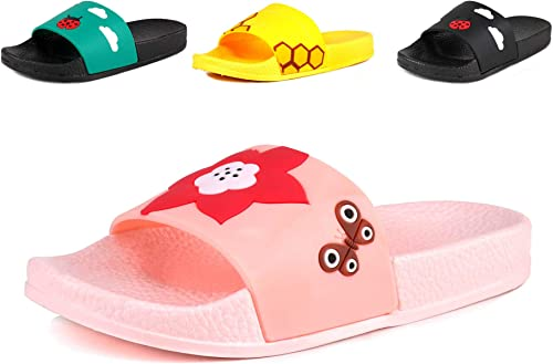 Slide Sandals for Girls Boys Comfortable Soft Bathroom Pool Beach Sandal Little Kid//Big Kid