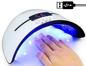 UV Nail Lamp 36W, LED Nail Dryer with Timer/Sensor/LCD Display Portable USB Design LED Nail Light Manicure Curing UV Gel Light for Fingernail & Toenail Gel Nails Polish