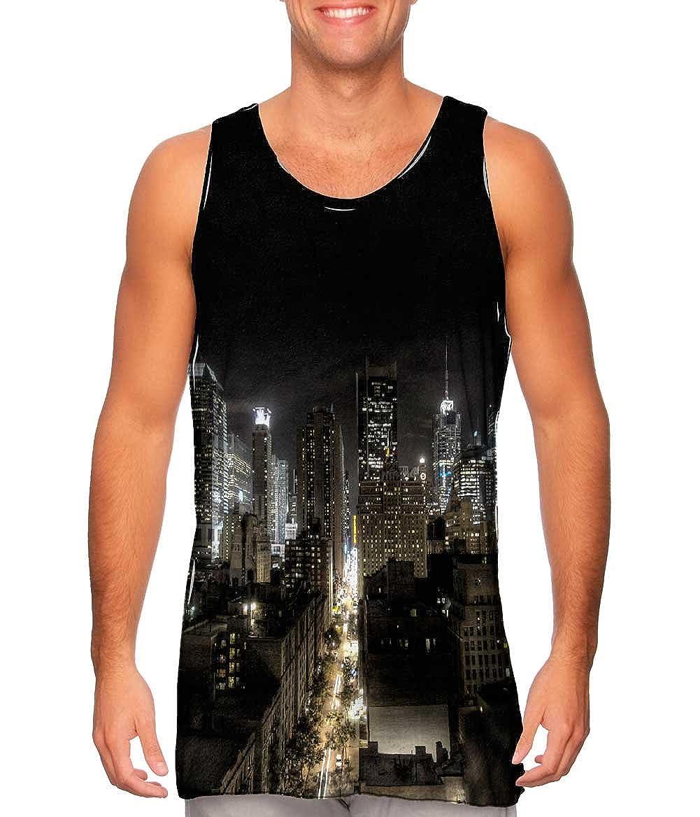 Mens Tank Top New York City At Night Yizzam TShirt