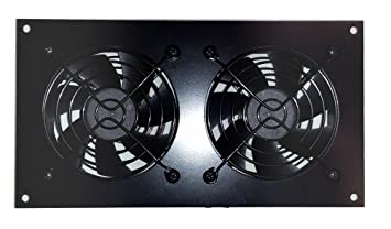 CabCool 802 Lite Dual 80mm Fan Cooling Kit For Cabinet U0026 Home Theaters