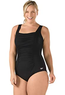 a355a18a52 Speedo Plus-Size Ultraback One-Piece Swimsuit: Amazon.ca: Clothing ...