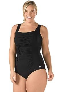 24fba4b57929b Amazon.com  Speedo Plus-Size Ultraback One-Piece Swimsuit  Sports ...