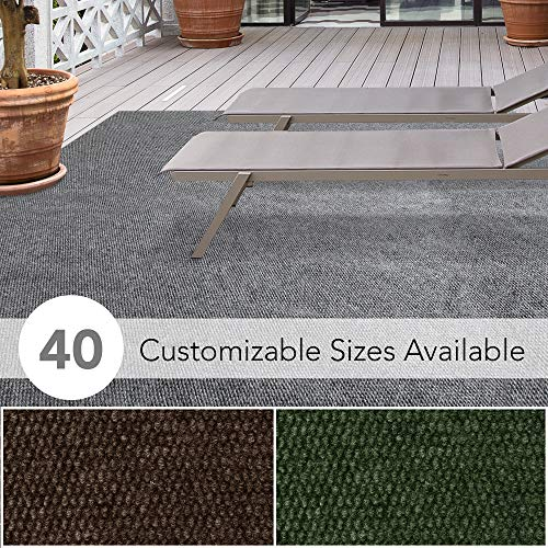 iCustomRug Affordable Indoor/Outdoor All Purpose Utility Loop Pile Carpet with Marine Backing, Multi Use Carpet for Patio, Porch, Deck, Boat, Basement, Garage or Trade Show (Decks Best Outdoor Carpet For)