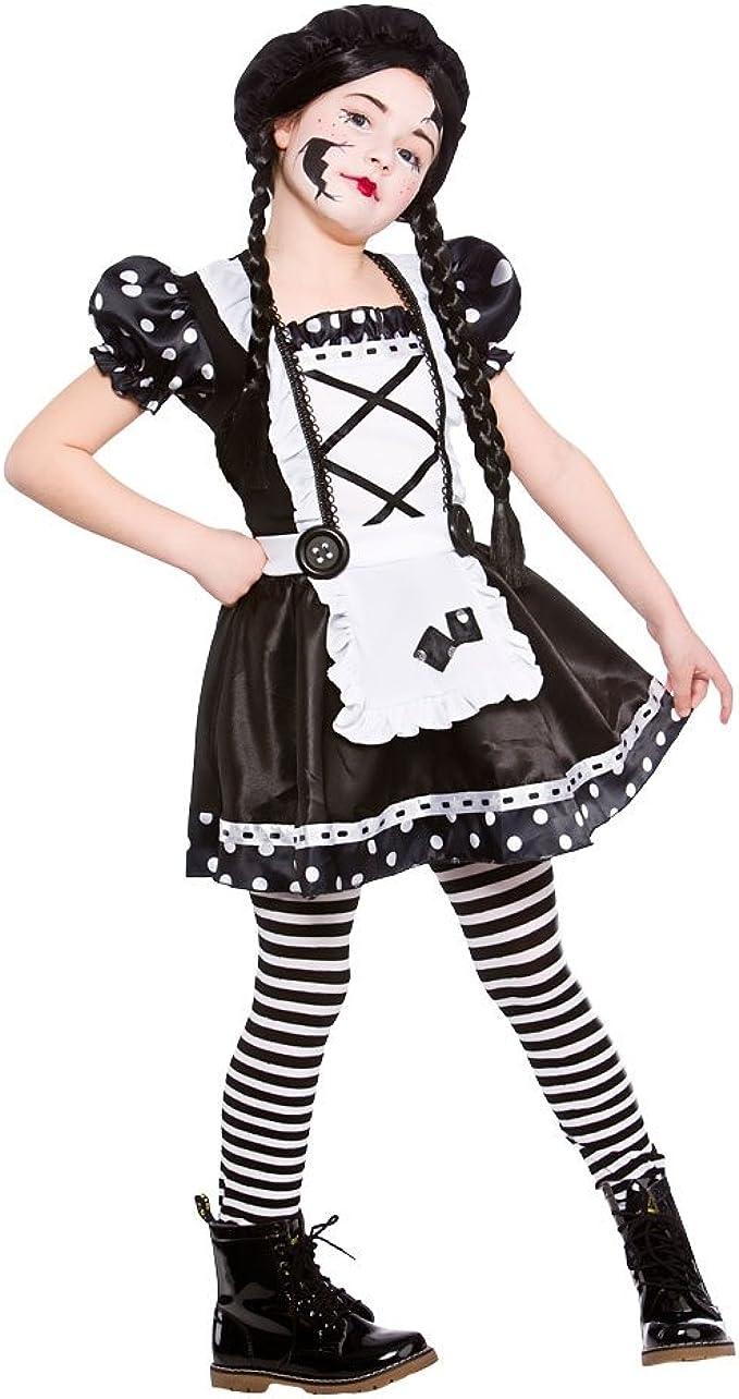 Disfraz de la muñeca quebrada para las niñas. Talla L de 8-10 años ...