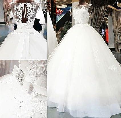 Vestido de novia elegante una línea gasa novia boda vestidos hermosos pendientes blanco suelo Longitud Vestido