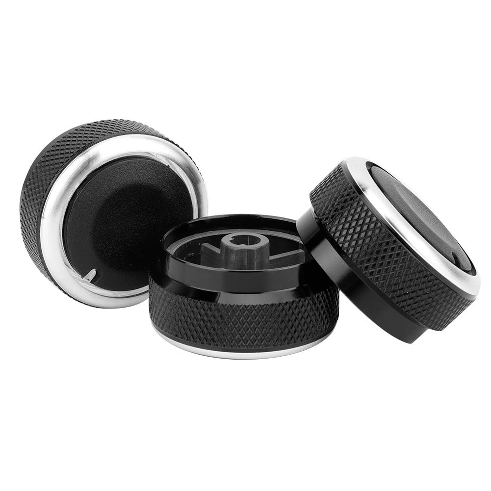 3pcs ABS Aluminum Alloy Car Air Conditioning Heat Control A//C Switch Knob for Toyota Tacoma Vios 02-14 Control Switch Knob