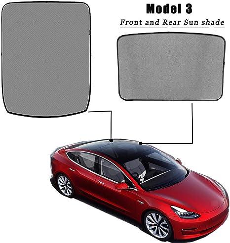 TOOGOO Fit pour Tesla Mod/èLe 3 Pochette de Couverture Glisser sur Le Parasol Protecteur D/éCran