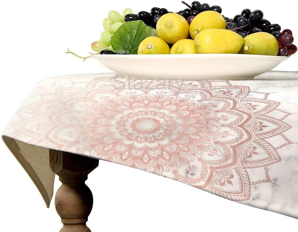 Pleasure Rose Gold Wallpaper by Mermaidandunicorn 279141488625 Tablecloth Dining Room Kitchen Rectangular Table Cover Party Decoration Six Sizes