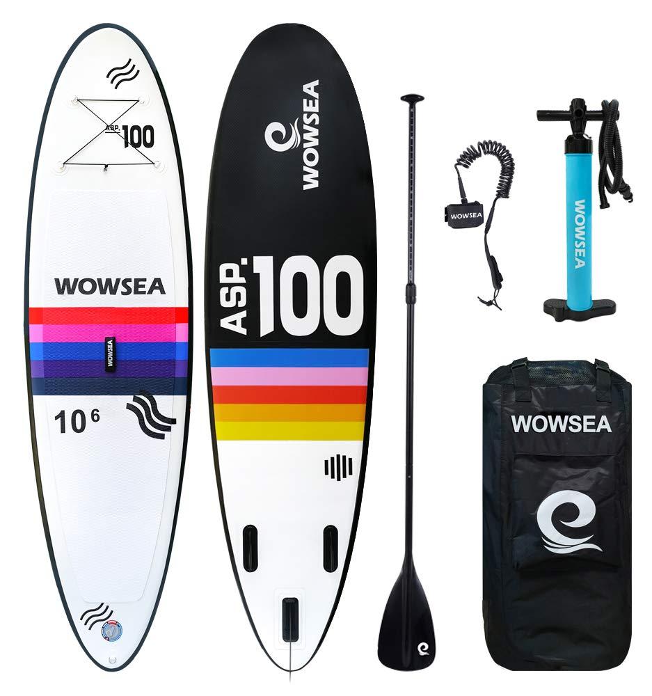 彩色 SUP サップ インフレータブルパドルボード - WOWSEA AN5 長305cm 幅80cm 積載重量130kg マリンスポーツ 海 夏 釣り用SUP スタンドアップパドルボード フルセット   B074GWKF3X