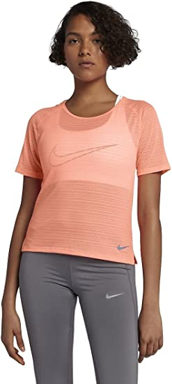 Nike Womens Run Fast Short Sleeve Top Crimson