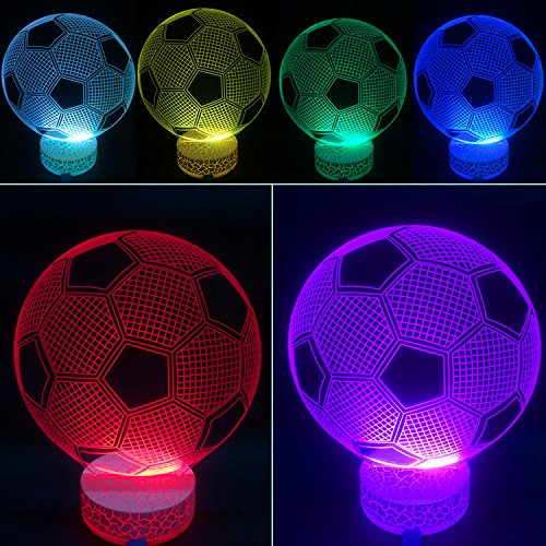 3D Illusion Led Night Lamp Soccer By Azalco