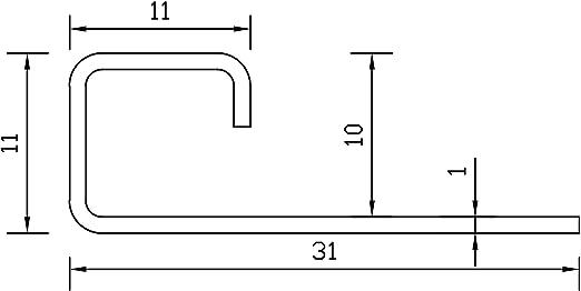 profili 250cm 2,5 METRO Altezza: 6mm PREMIO profili per pavimenti angolo acciaio inox V2A satinate non /è possibile torcersi materiale 1mm