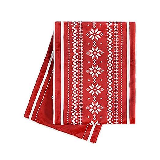 HWL Camino de Mesa Camino De Mesa Navideño: Mantel Rojo Nórdico ...