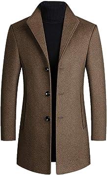 メンズウールブレンドコート秋冬無地ウールジャケット豪華なビジネスオーバーコート