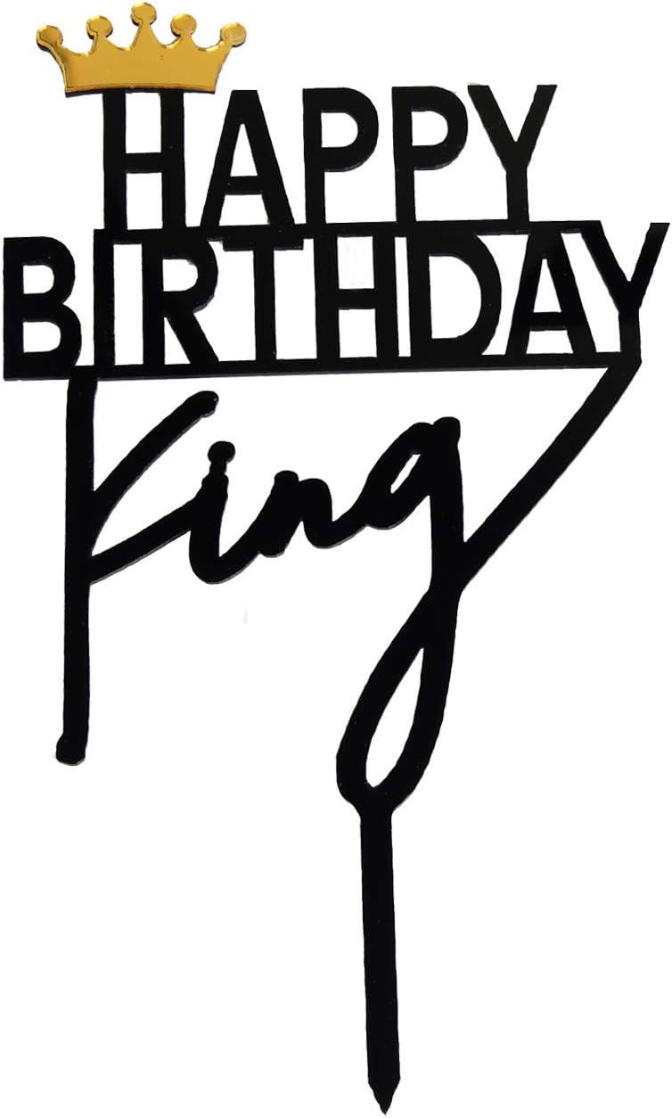 ZHENGYE crown king Birthday Cake Topper Acrylic Decorations
