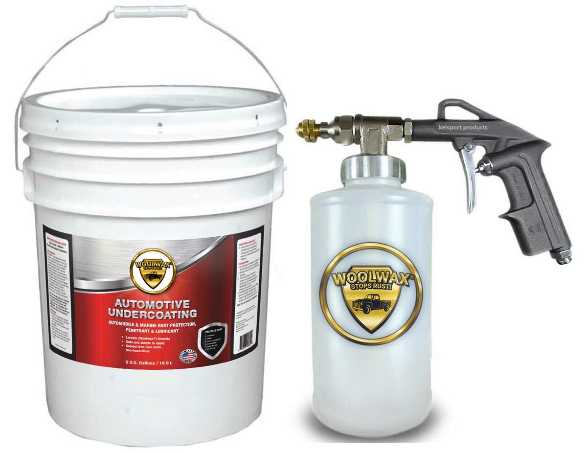 woolwax Lanolin Vehicle undercoating kit 5 Gallon Pail w/PRO Gun