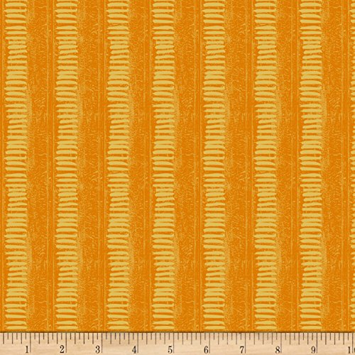 Linear Reflection (Wilmington Amber Reflections Linear Texture Orange Fabric By The Yard)