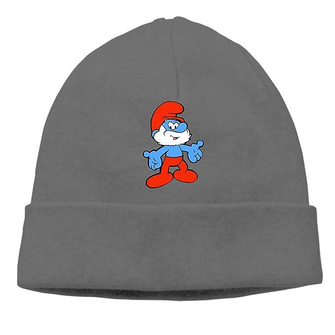 Amazon.com: Papa Pitufos Cap tejer sombrero de calavera ...
