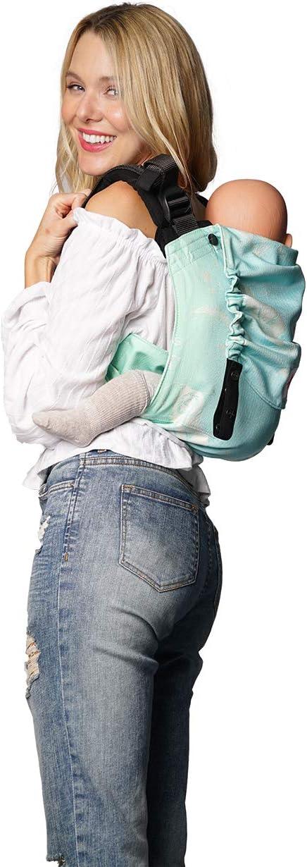 Portabebés: KOKADI® Onbu Plumas Sky (Toddler) ✓ Recién nacidos y niños pequeños ✓ Ergonómico ✓ Puente ajustable ✓ Algodón orgánico ✓ 7-20 kg ✓ Bolsa gratis