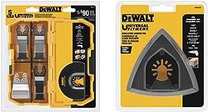 DEWALT Oscillating Tool Blades Kit, 5-Piece (DWA4216) & Sanding Pad For Oscillating Tool (DWA4200)