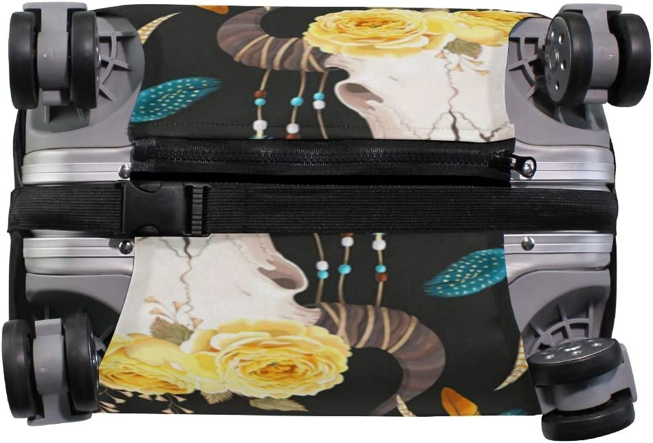 Fashion Cow Feather Rose Traveler Lightweight Rotating Luggage Protector Case Can Carry With You Can Expand Travel Bag Trolley Rolling Luggage Protector Case