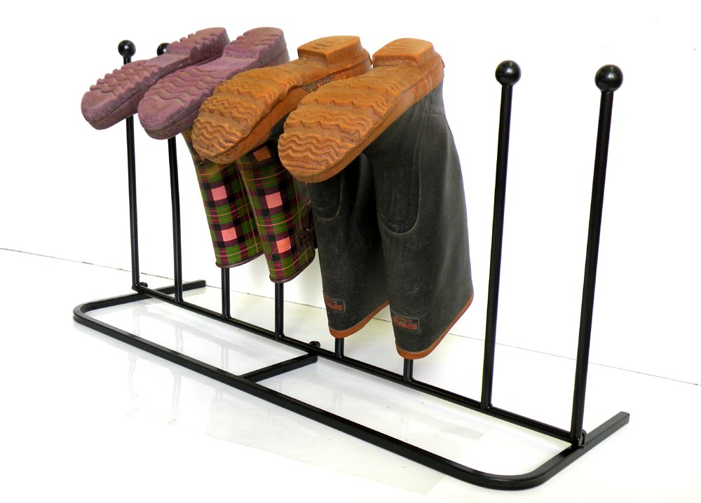 """Boot Rack ,Boot Organizer:""""Eagle iRoot"""" Creative Indoor/Outdoor Wrought Iron Boot Rack Stand , Elegant & Steady Boot Organizer - Perfect for Storing & Drying .Compact Size Allows for Unobtrusive and Portable Storage of Your Boots. No More Tripping Ove by Eastern Cloud (Image #4)"""