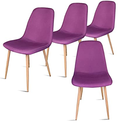Superbe Leopard Modern Dining Chair With Metal Legs And Fabric,Dining Room Chairs  Set Of 4