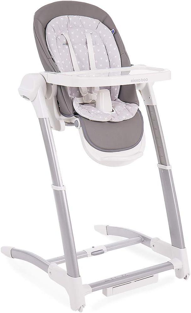 KikkaBoo Prima - Silla alta 3 en 1 con columpio y columpio - 7 posiciones de altura ajustable, bandeja extraíble, fácil de limpiar y cómodo cojín para bebé