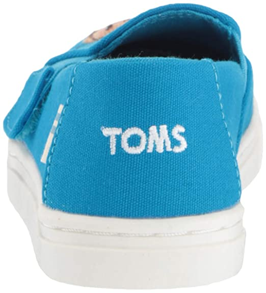 TOMS Sesame Street X Cookie Monster Applique Tiny Luca Slip-Ons 10013646  (Size: 8) Blue