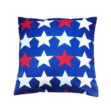 Aratextil. Funda de cojin infantil lavable. Estrellas Azul ...