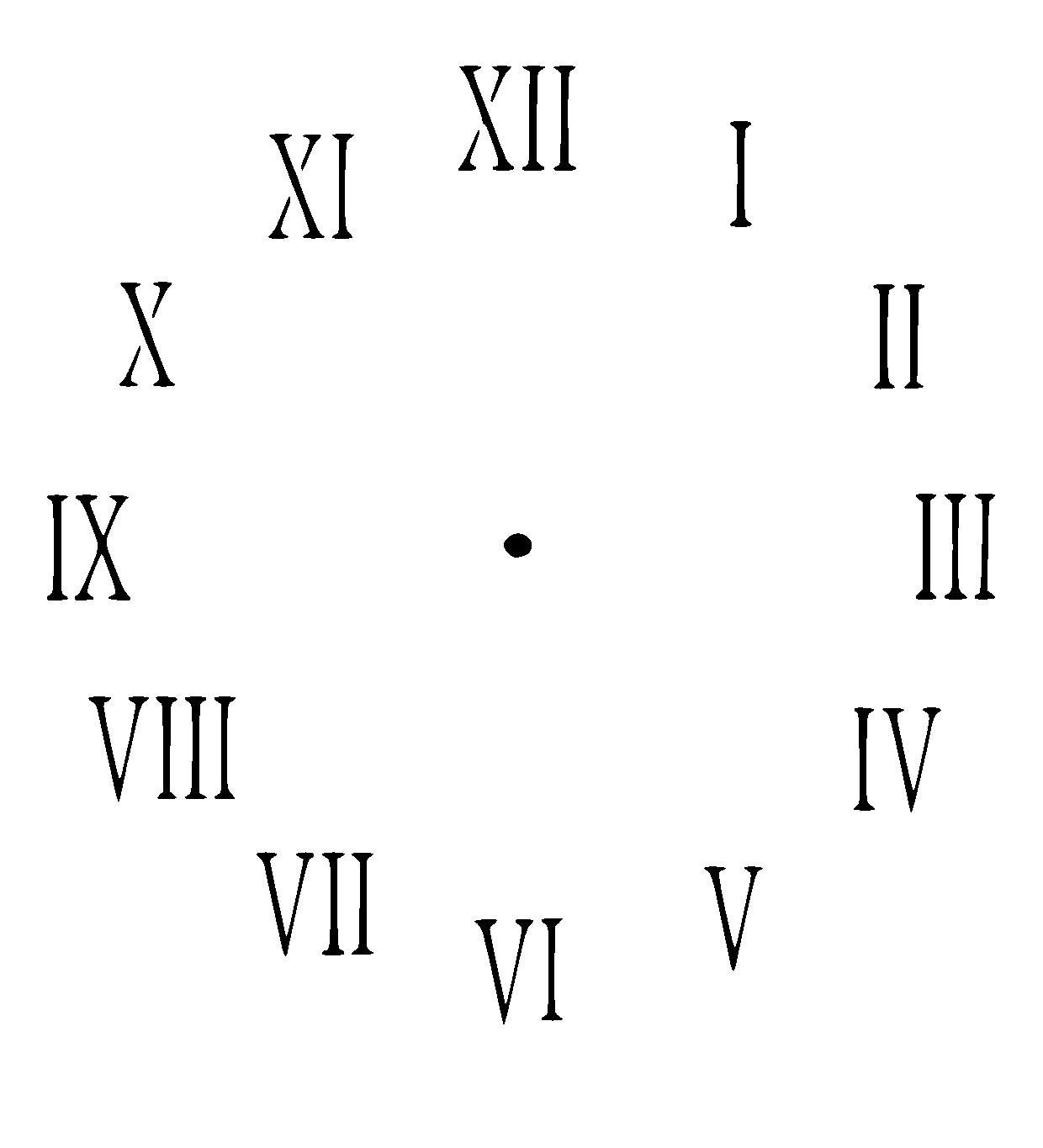 clock face stencil. Choose size and thickness.