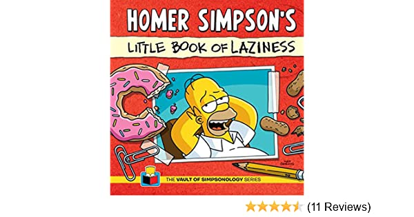 Homer Simpsons Little Book Of Laziness The Vault Of Simpsonology