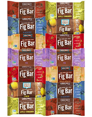 Fig Bars Recipe - Nature's Bakery Stone Ground Whole Wheat Fig Bar Variety Pack Sampler, All Natural NON GMO Snack Food (14 Count)