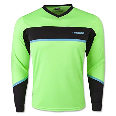 c27215e35 Amazon.com : Reusch Soccer Adult Razor Goalkeeper Jersey, Green ...