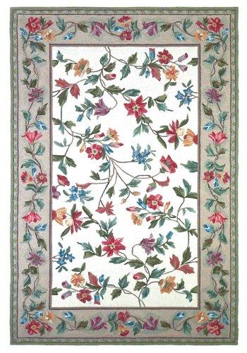 KAS Rugs 1707 Colonial Floral Vine Runner, 5 by 8-Feet, (Floral Runners Kas Rugs)