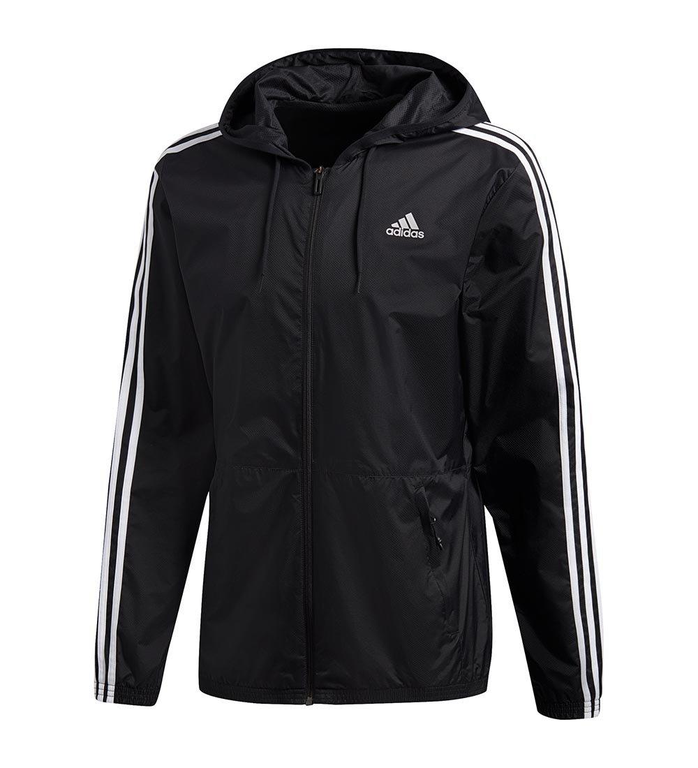 Adidas Men's Essentials Wind Jacket, Black/Black/White, 3X-Large S1754MCL320