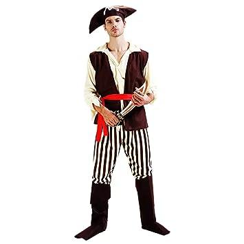 thematys® Disfraz de Pirata para Hombre Cosplay, Carnaval y Halloween - Talla única 160-180cm