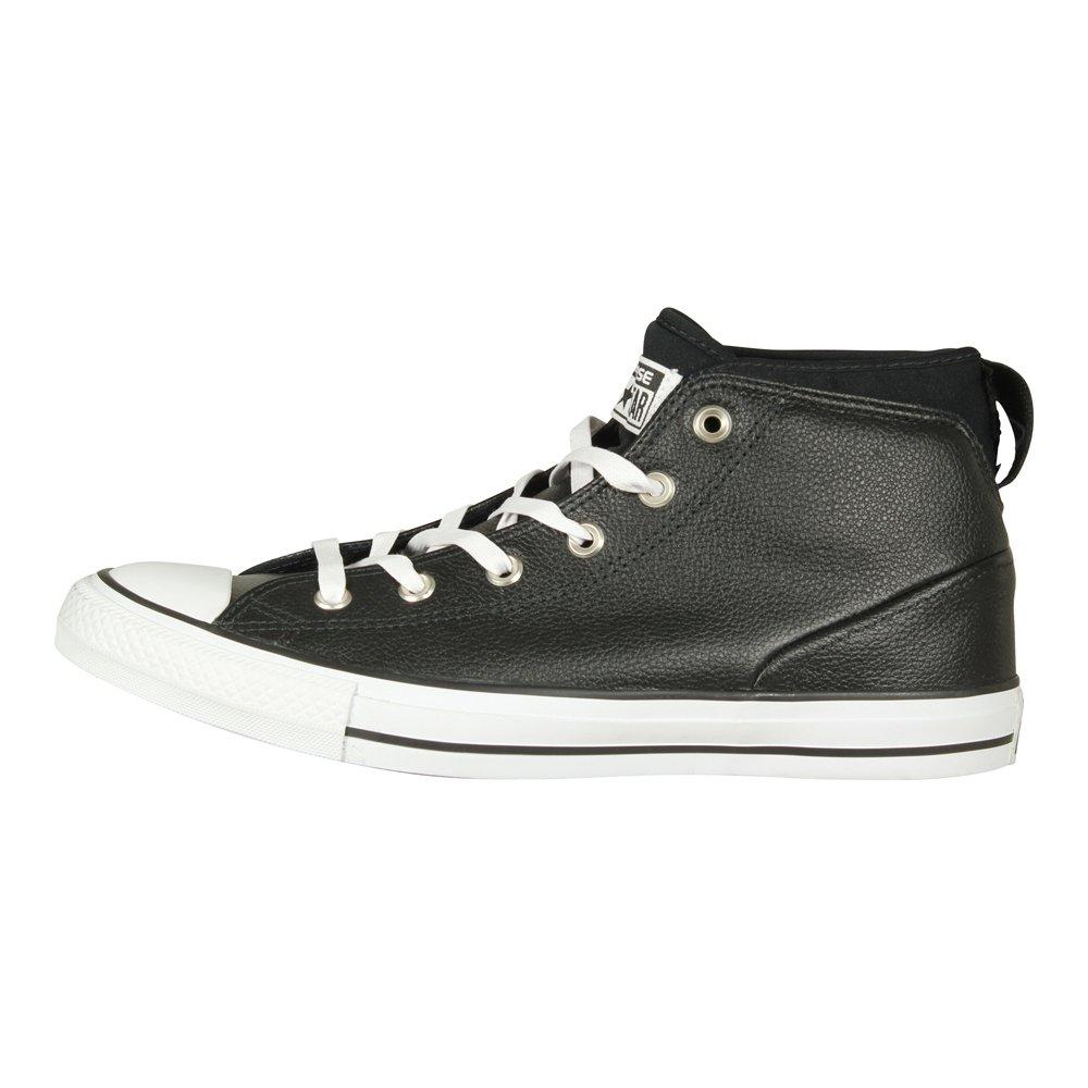Converse Mens Chuck Taylor All Star Street Sneaker Black/Black/White 9.5 B(M) US Women / 7.5 D(M) US Men